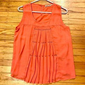 Orange sheer blouse